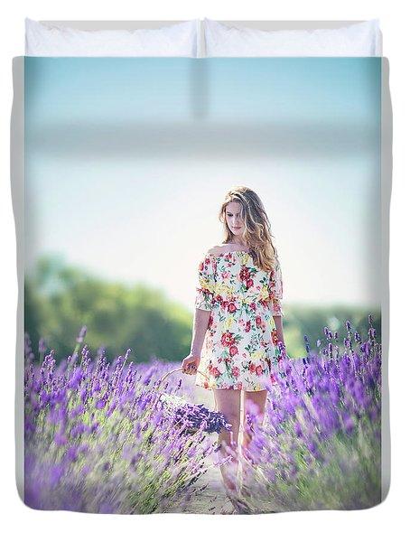 Embraced In Lavender Duvet Cover