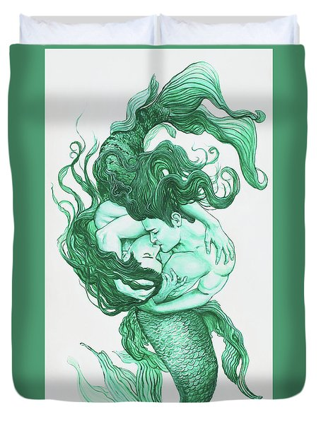 Embracing Mermen Duvet Cover