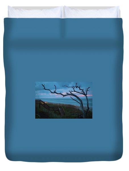Emerald Isle Obx - Blue Hour - North Carolina Summer Beach Duvet Cover