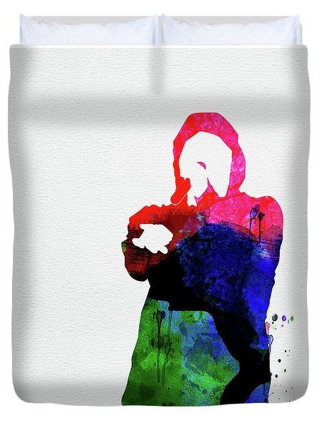 Eminem Watercolor Duvet Cover