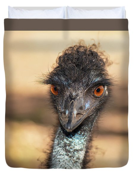 Emu By Itself Outdoors During The Daytime. Duvet Cover