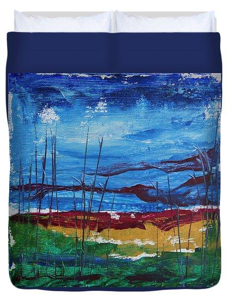 Encaustic Landscape Duvet Cover