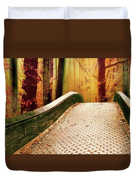 Duvet Cover featuring the photograph Enchanted Autumn by Jessica Jenney