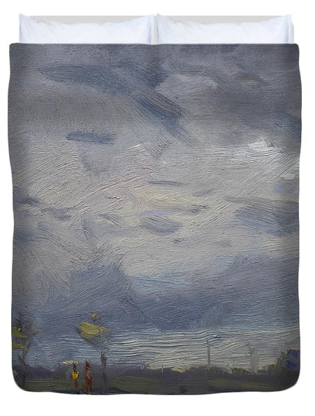 End Of A Gray Day Duvet Cover