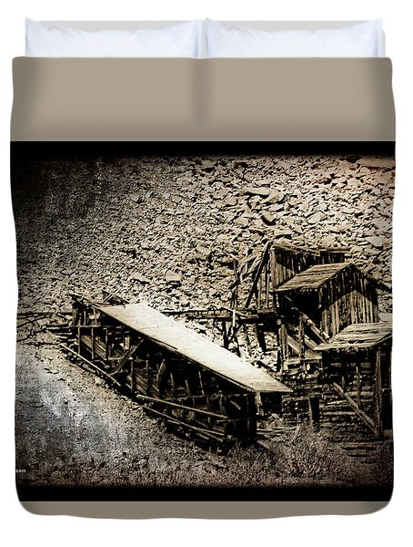 End Of The Line Mine Duvet Cover
