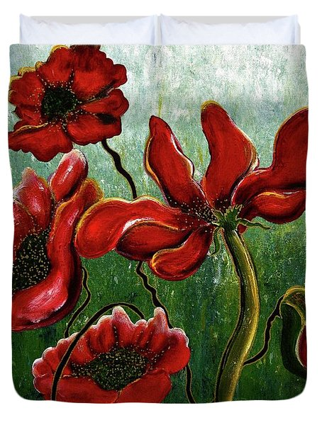 Endless Poppy Love Duvet Cover