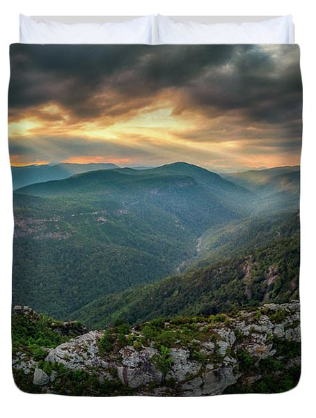 Epic Linville The Chimneys Duvet Cover