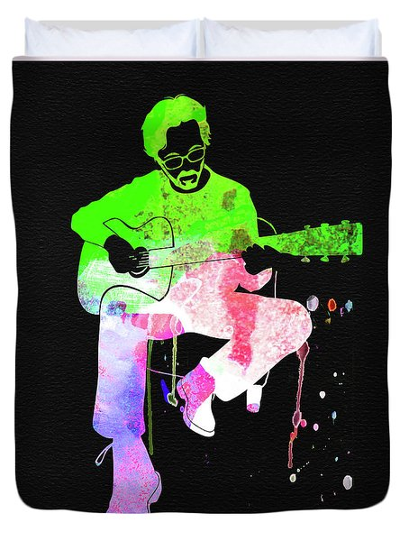 Eric Clapton Stone Watercolor Duvet Cover