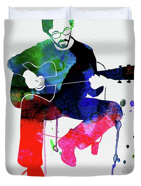 Eric Clapton Watercolor Duvet Cover