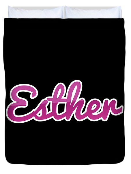 Esther #esther Duvet Cover