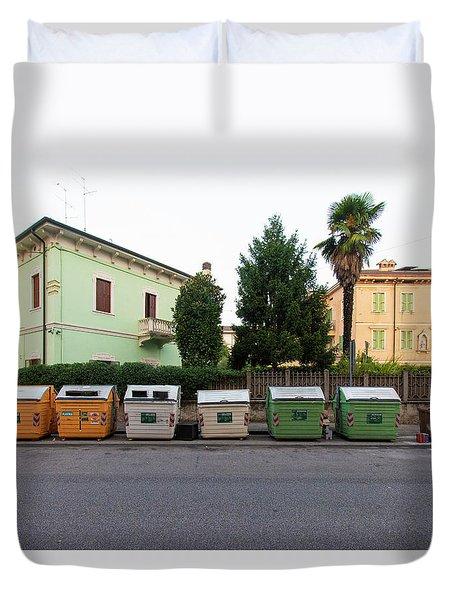 European New Topographics 4 Duvet Cover