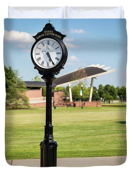 Evans Towne Center Park Clock - Columbia County Ga Duvet Cover