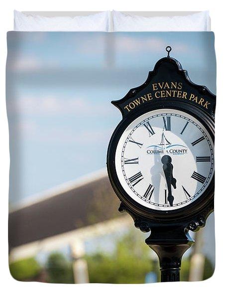 Evans Towne Center Park Clock - Evans Ga Duvet Cover