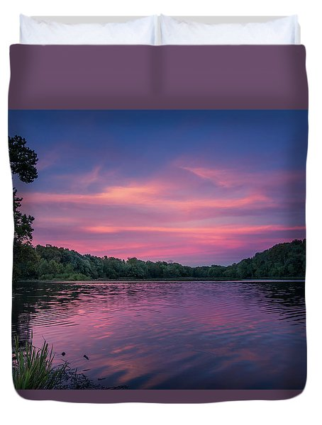 Evening At Springfield Lake Duvet Cover