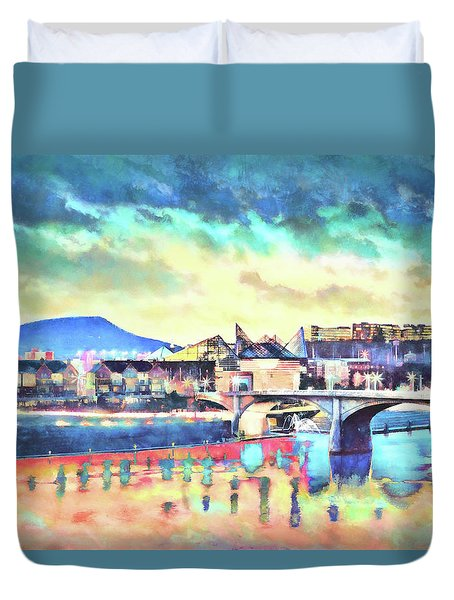 Evening Glow After The Storm Duvet Cover