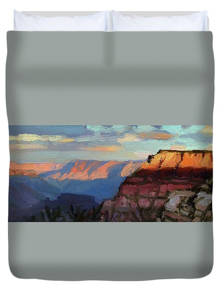 Evening Light At The Grand Canyon Duvet Cover