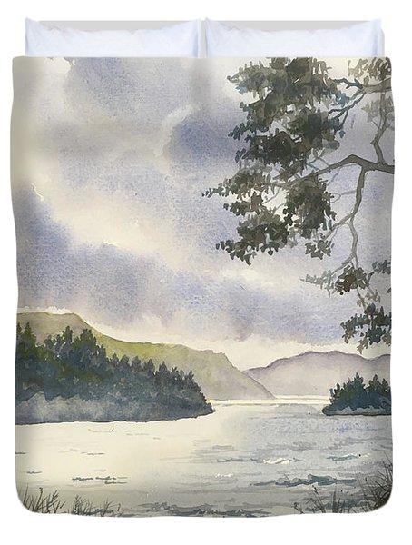 Evening On Derwentwater Duvet Cover