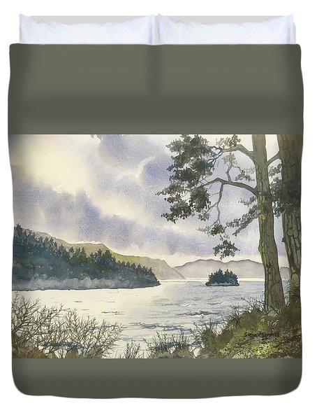 Evening On Derwentwater Duvet Cover
