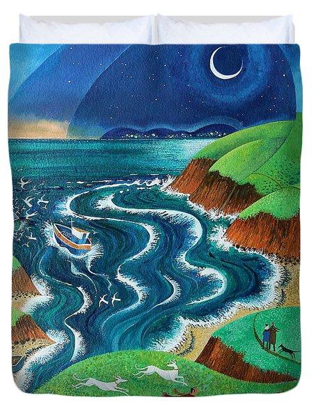 Evening Sea Breezes Duvet Cover