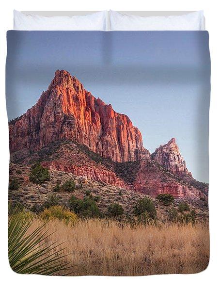Evening Vista At Zion Duvet Cover