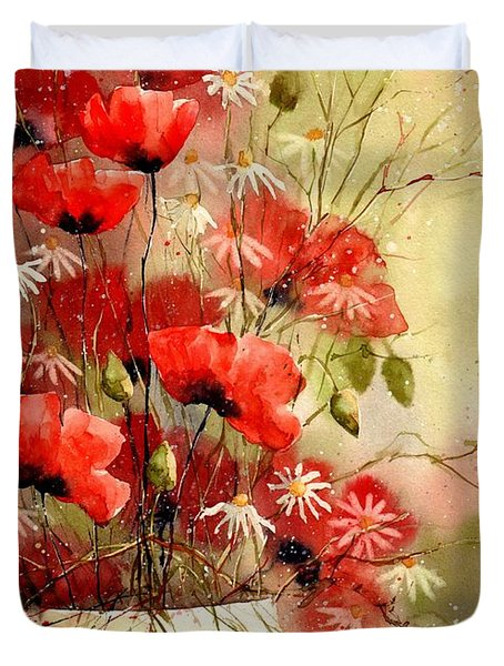Everything About Poppies IIi Duvet Cover