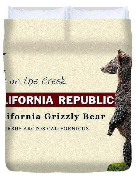Extinct California Grizzly Bear Duvet Cover