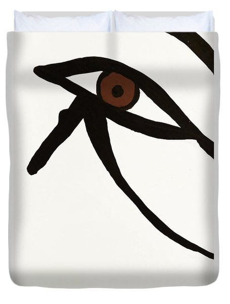 Duvet Cover featuring the photograph Eye Of Egypt by Sue Harper