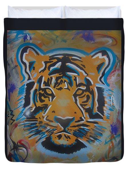 Eye Of The Big Tiger Duvet Cover