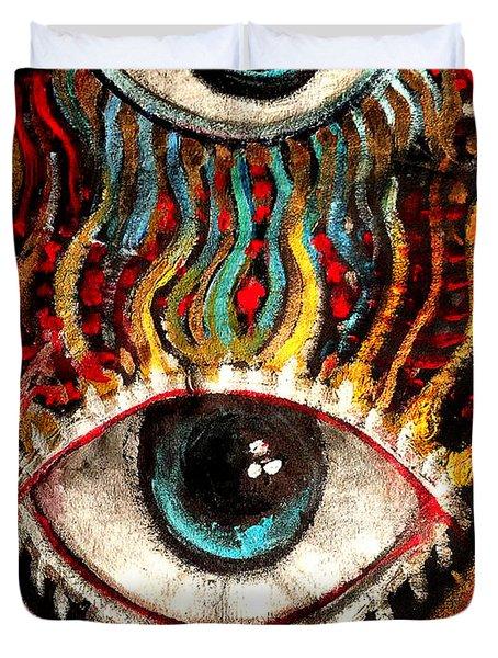 Eyes On You Duvet Cover