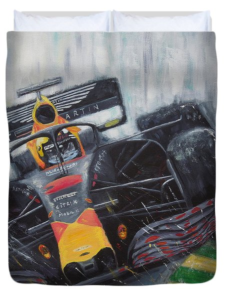F1 Action Duvet Cover