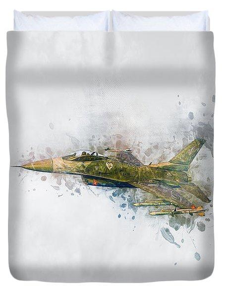 F16 Fighting Falcon Duvet Cover