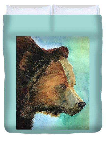 Face To Face Bear Duvet Cover