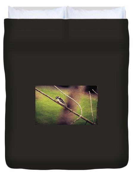 Faded Canvas Woodpecker Duvet Cover