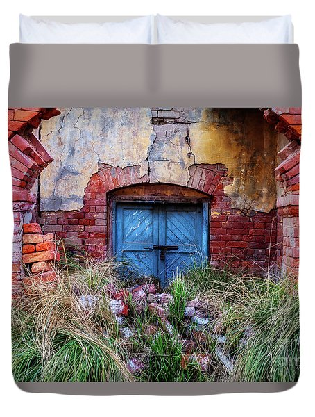 Faded In Time Duvet Cover