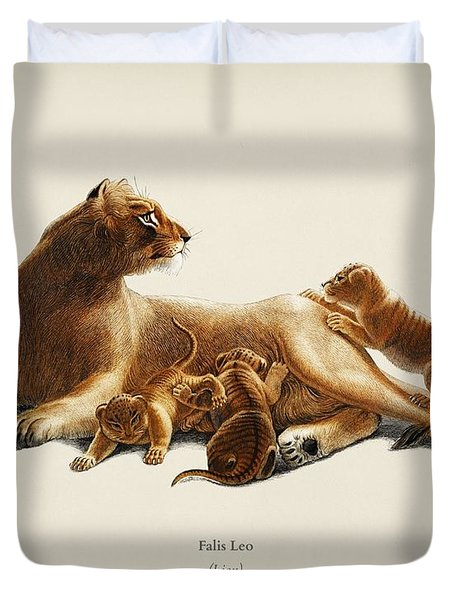 Fails Leo Illustrated By Charles Dessalines D  Orbigny  1806 1876  Duvet Cover