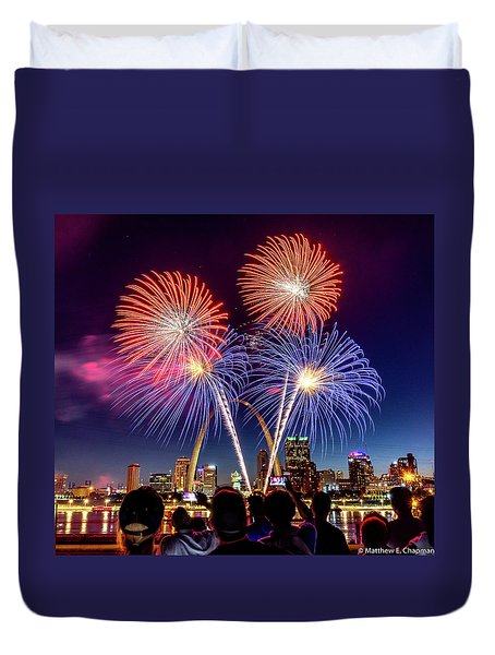 Fair St. Louis Fireworks 6 Duvet Cover