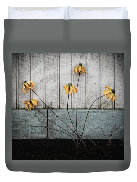 Fake Wilted Flowers Duvet Cover