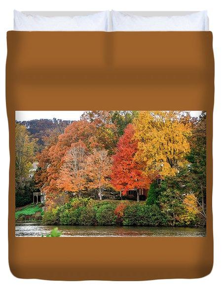 Fall At The Lake Duvet Cover