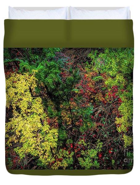 Fall Color Along The Big Tom Duvet Cover