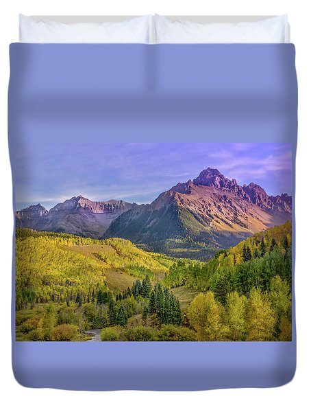 Fall Color In The San Juan Mountains Duvet Cover