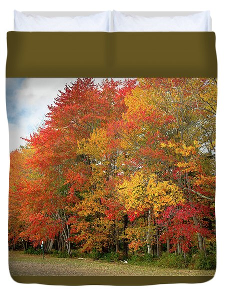 Duvet Cover featuring the photograph Fall Colors by Doug Camara