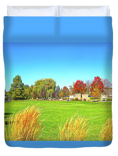 Duvet Cover featuring the photograph Fall Colors In Boise, Idaho by Dart and Suze Humeston