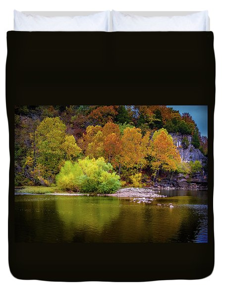 Fall Colors Of The Ozarks Duvet Cover