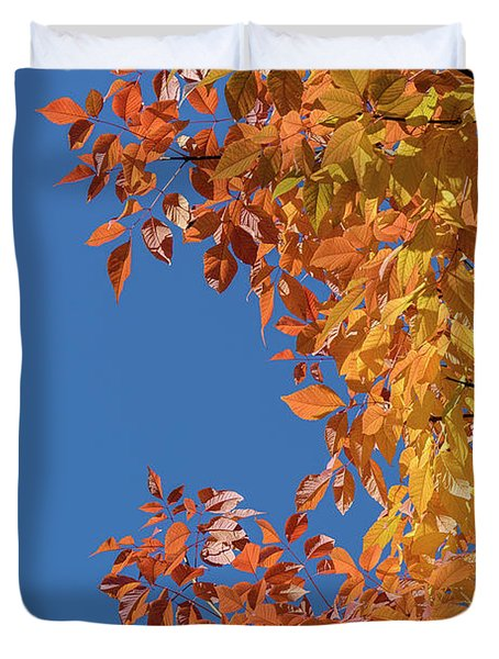Duvet Cover featuring the photograph Fall Colors by Steven Sparks