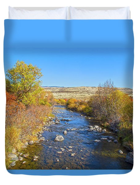 Duvet Cover featuring the photograph Fall Foliage In Idaho by Dart and Suze Humeston