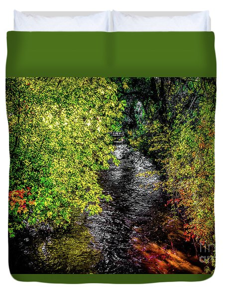Duvet Cover featuring the photograph Fall Foliage by Jon Burch Photography