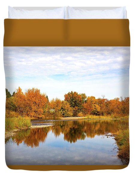 Duvet Cover featuring the photograph Fall In Emmett, Idaho by Dart and Suze Humeston