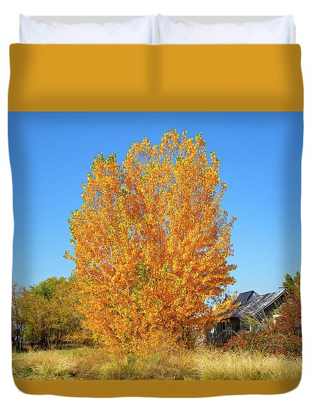 Duvet Cover featuring the photograph Fall In Idaho by Dart and Suze Humeston