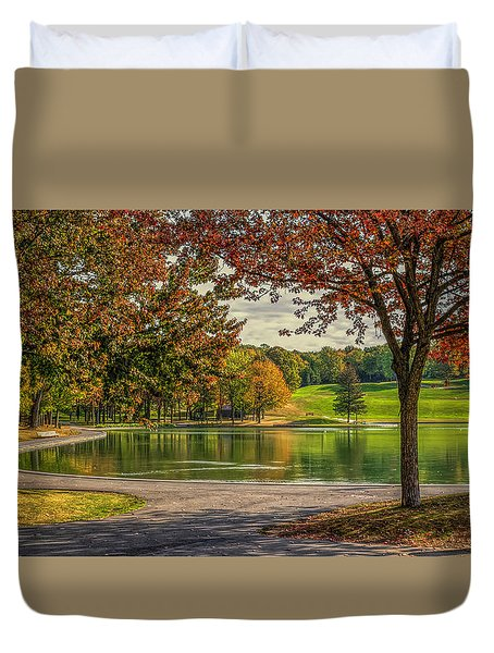 Fall In Montreal Duvet Cover