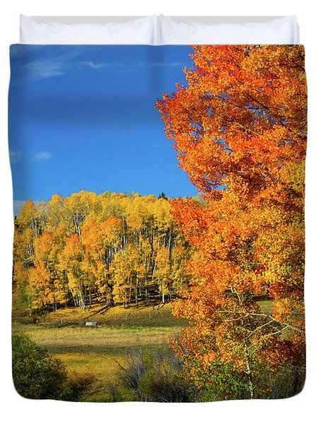 Fall In The Elks Duvet Cover
